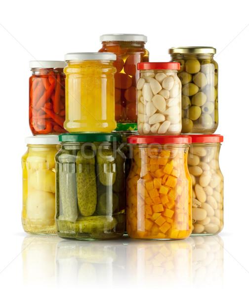 保存 野菜 白 ガラス 緑 赤 ストックフォト © donatas1205