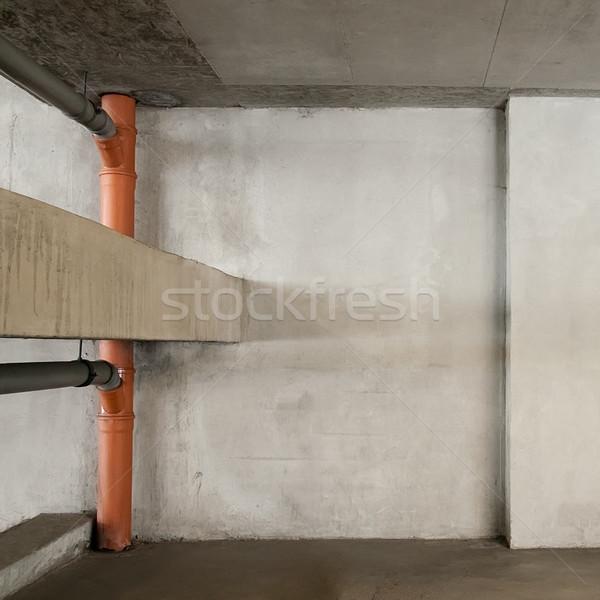 Parkolóhely üres konzerv használt fal háttér Stock fotó © donatas1205