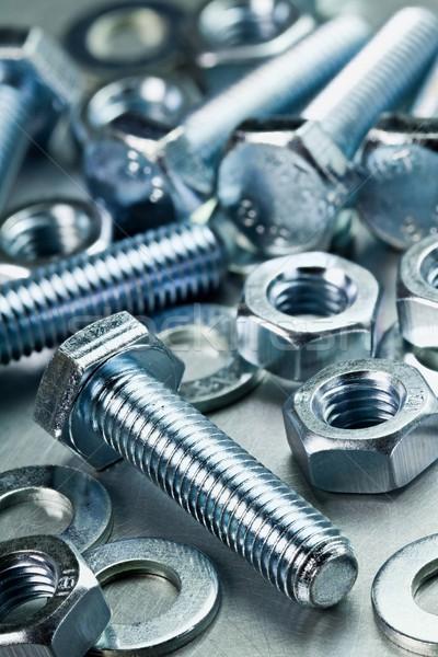 Métal outils noix table travaux clé Photo stock © donatas1205