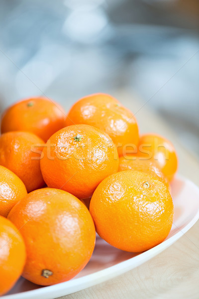 Stockfoto: Tabel · vruchten · gezondheid · groene · plaat · tropische