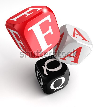 i dont know what i love 3d dice Stock photo © donskarpo