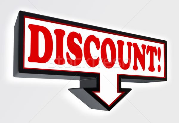 discount sign with arrow  Stock photo © donskarpo