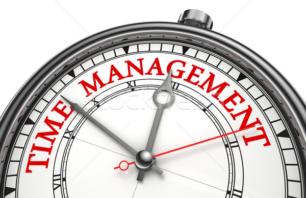 time management concept clock Stock photo © donskarpo