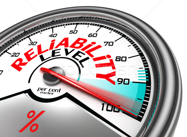 reliability level conceptual meter Stock photo © donskarpo