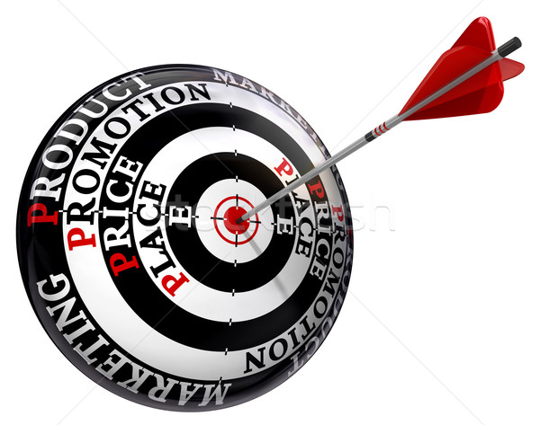 four p marketing principles on target  Stock photo © donskarpo