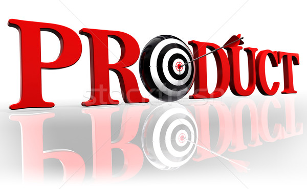 product red word and target Stock photo © donskarpo