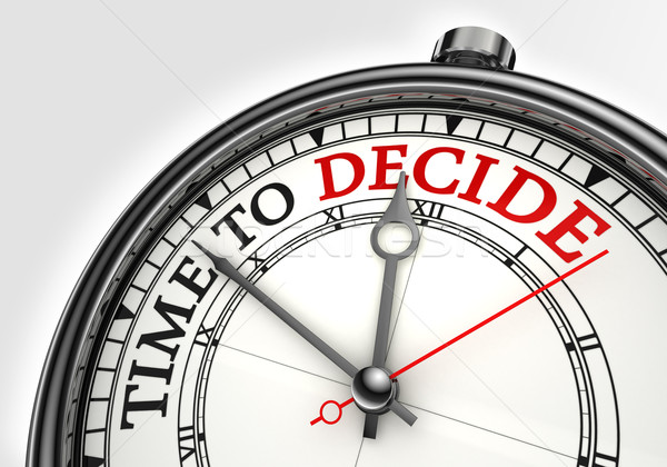 time to decide concept clock Stock photo © donskarpo