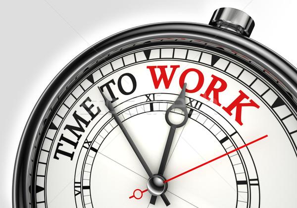 Stok fotoğraf: Zaman · çalışmak · saat · beyaz · kırmızı
