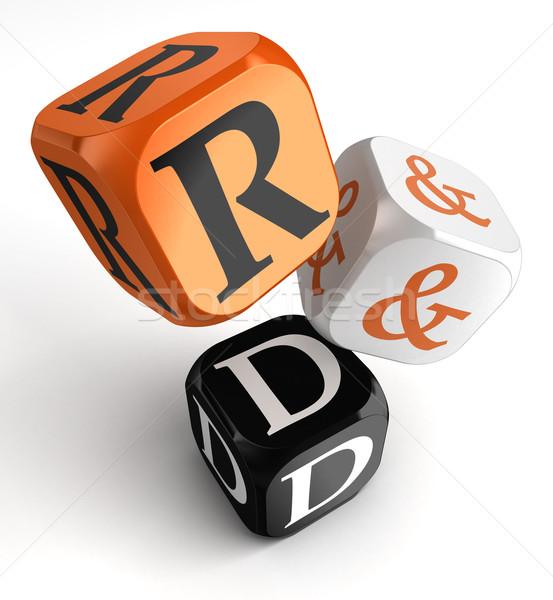 r&d orange black dice blocks Stock photo © donskarpo