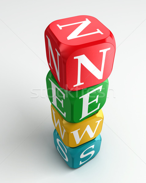 news 3d colorful buzzword tower  Stock photo © donskarpo