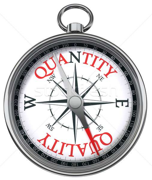 quality versus quantity concept compass Stock photo © donskarpo