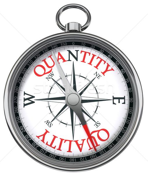 Kwaliteit kwantiteit kompas afbeelding twee verschillend Stockfoto © donskarpo