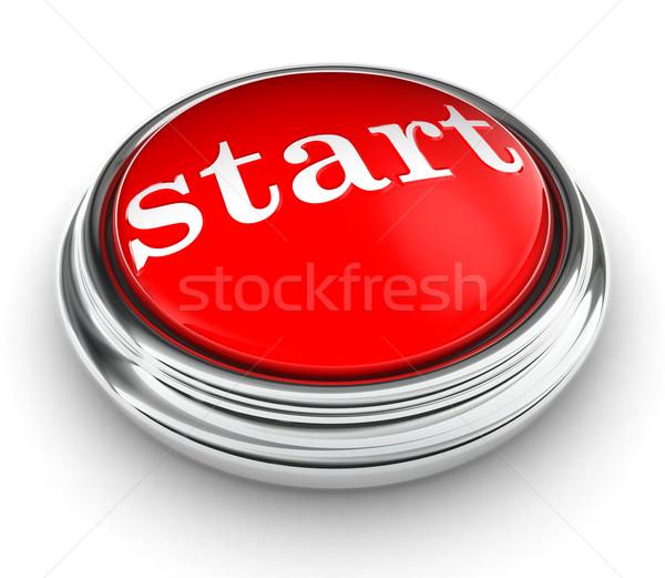start word on red push button Stock photo © donskarpo