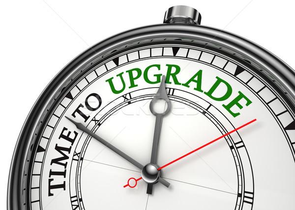 time to upgrade concept clock Stock photo © donskarpo