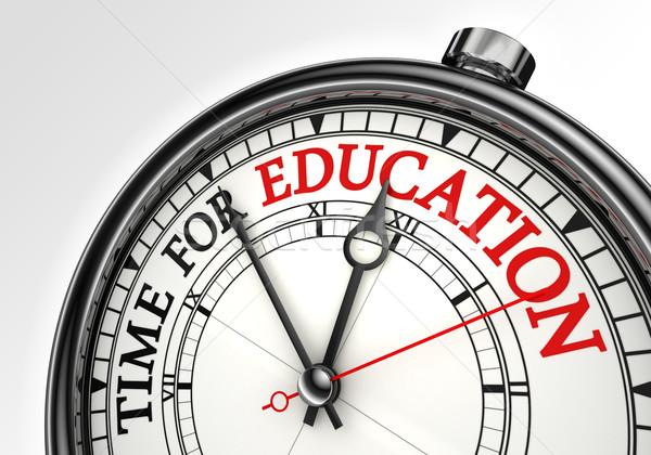 Stock fotó: Idő · oktatás · óra · közelkép · fehér · piros