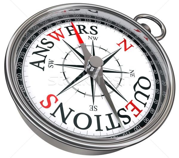 answers vs questions concept compass Stock photo © donskarpo