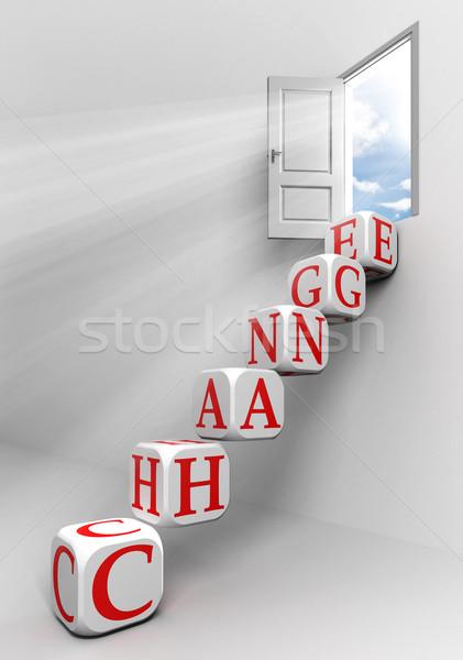 change conceptual door Stock photo © donskarpo