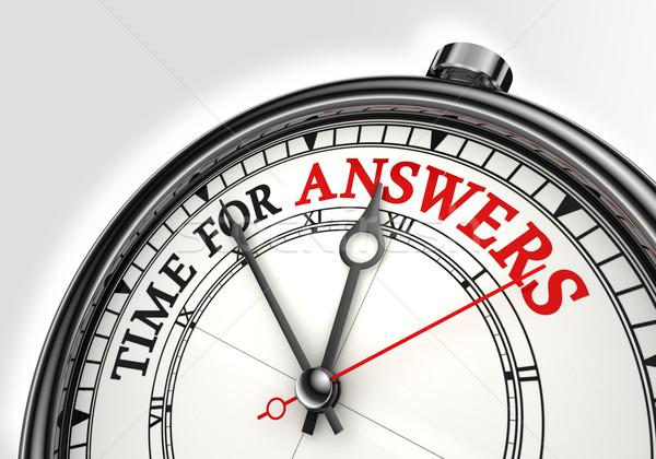 Stock fotó: Válaszok · idő · óra · közelkép · fehér · piros