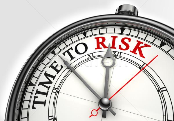 Сток-фото: риск · время · часы · белый · красный