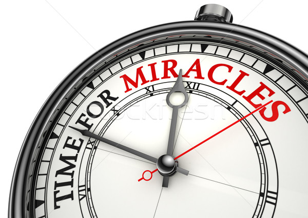 time for miracles clock closeup Stock photo © donskarpo