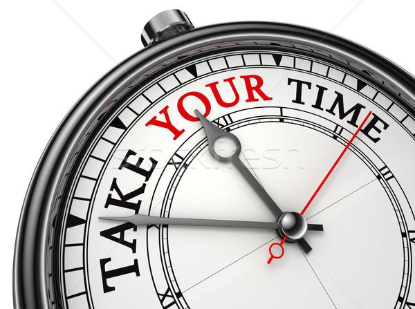 take your time concept clock Stock photo © donskarpo