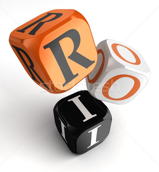 Stock fotó: Roi · narancs · fekete · kocka · kockák · visszatérés