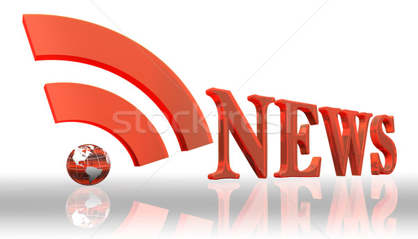 rss news logo word  Stock photo © donskarpo