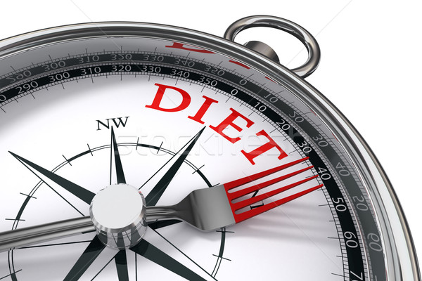 Stock photo: diet the way indicated by concept compass