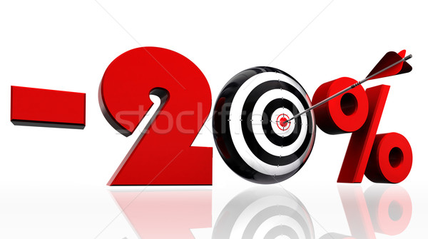 twenty per cent discount symbol with conceptual target  Stock photo © donskarpo