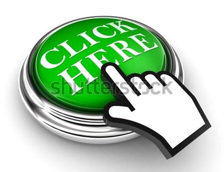 Evet yeşil düğme el imleç beyaz Stok fotoğraf © donskarpo