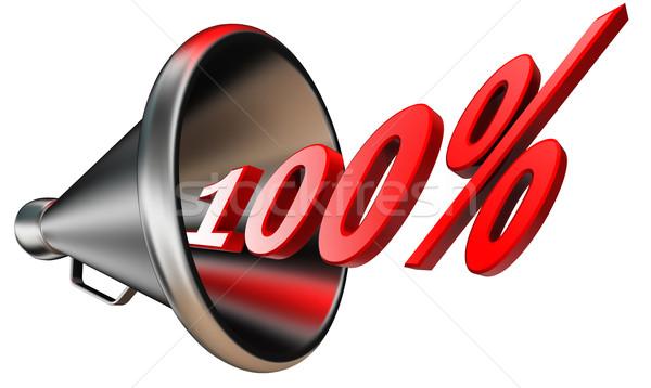 Cem por centavo vermelho símbolo 100 Foto stock © donskarpo