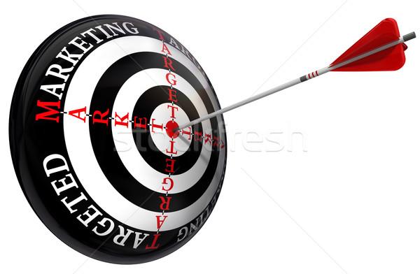 targeted marketing concept Stock photo © donskarpo