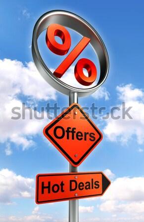 Rss znak drogowy drogowego pomarańczowy podpisania słup Zdjęcia stock © donskarpo
