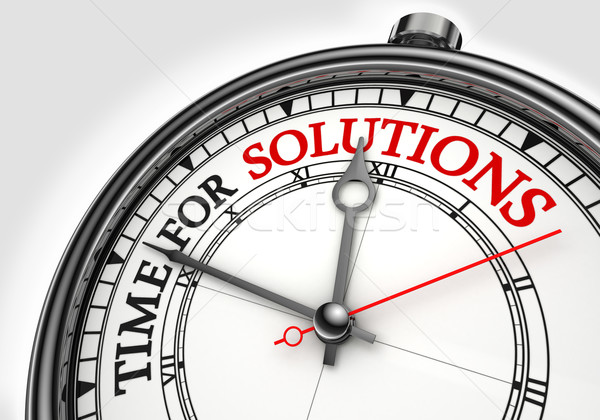 time for solutions concept clock Stock photo © donskarpo