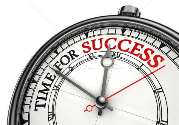 Tijd succes klok witte Rood Stockfoto © donskarpo