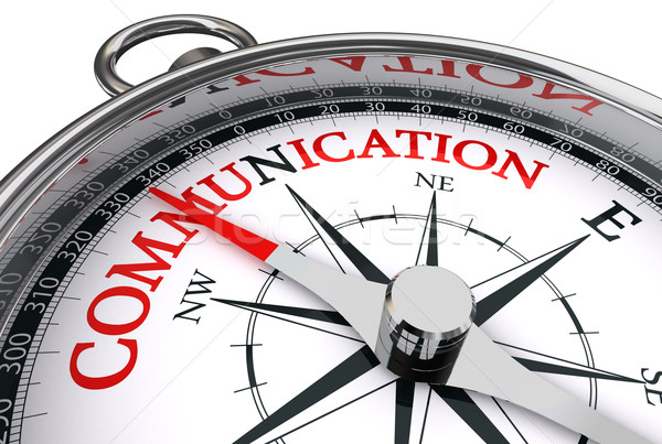 communication red word on conceptual compass Stock photo © donskarpo