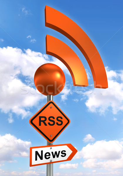 rss road orange sign  Stock photo © donskarpo
