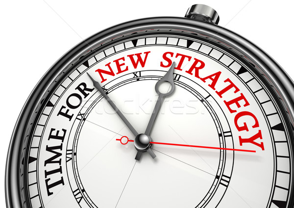 time for new strategy on clock Stock photo © donskarpo