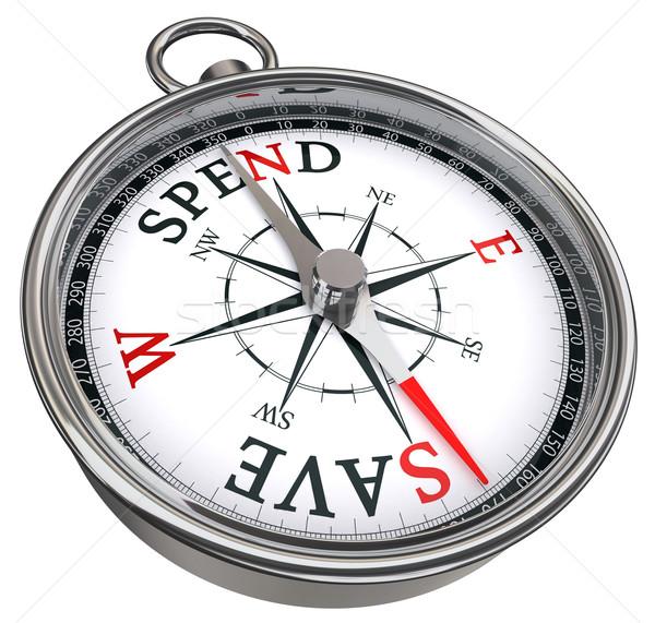 spend versus save concept compass Stock photo © donskarpo