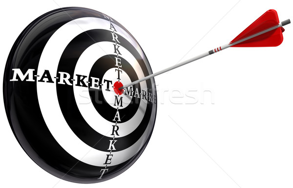 targeted marketing conceptual image Stock photo © donskarpo