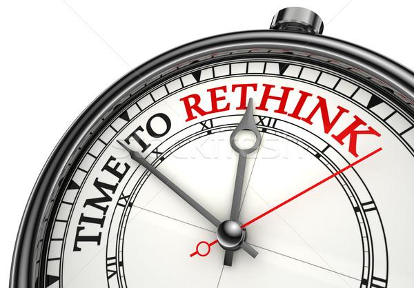 time to rethink concept clock Stock photo © donskarpo