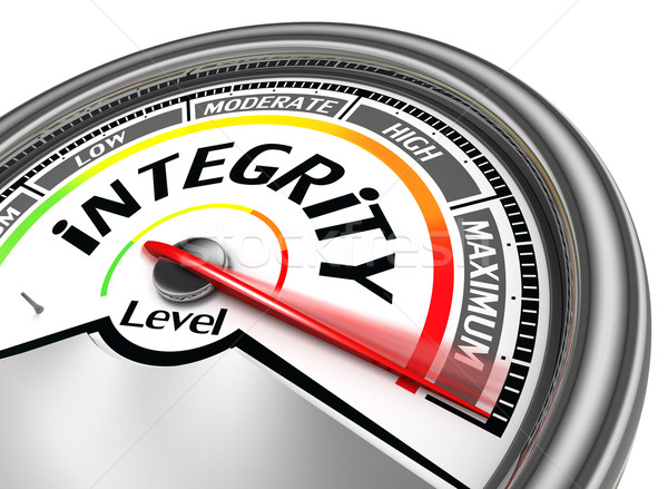 integrity conceptual meter Stock photo © donskarpo