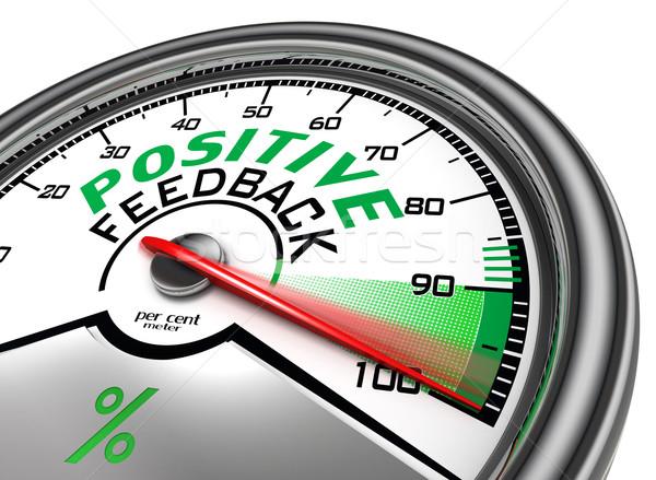 positive feedback conceptual meter Stock photo © donskarpo