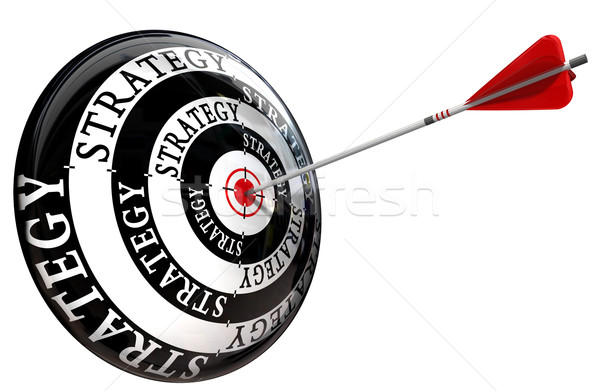 strategy word on target conceptual image isolated on white backg Stock photo © donskarpo