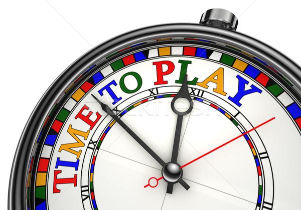 Foto d'archivio: Tempo · giocare · clock · primo · piano · bianco · rosso