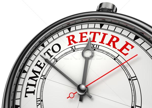 time to retire concept clock Stock photo © donskarpo