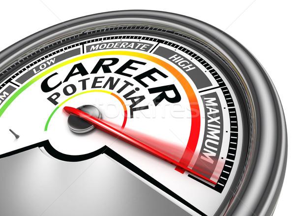career potential conceptual meter Stock photo © donskarpo