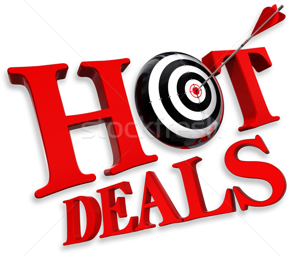 hot deals red logo  Stock photo © donskarpo