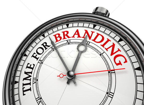 time for branding concept clock Stock photo © donskarpo