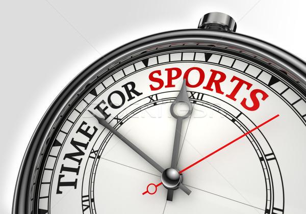 Stock fotó: Idő · sportok · óra · közelkép · fehér · piros